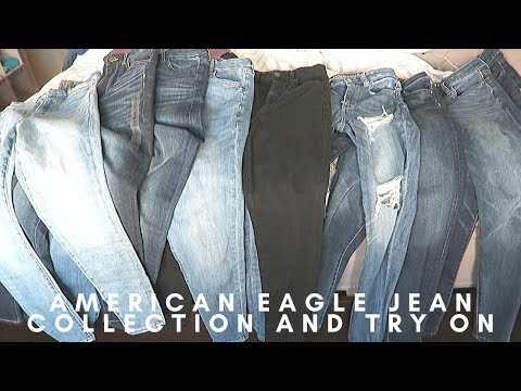 AMERICAN EAGLE AE JEAN JEGGING COMPLETE COLLECTION TRY ON CURVY HIGH RISE