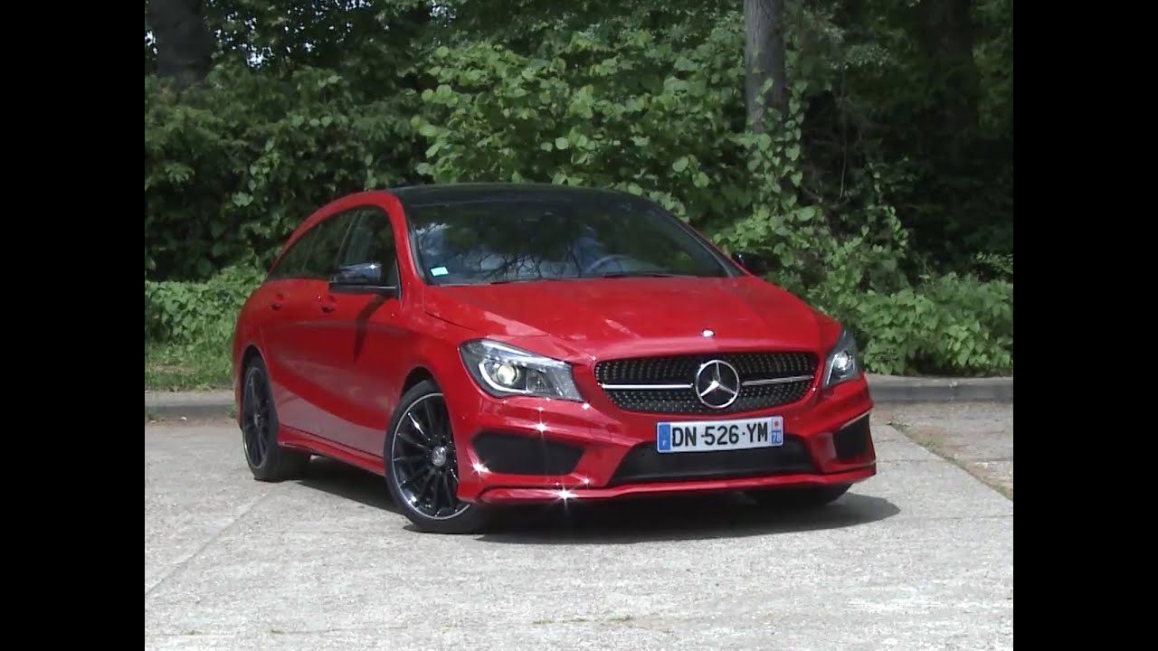essai mercedes cla shooting brake 200 cdi 7g dct fascination 2015 youtube. Black Bedroom Furniture Sets. Home Design Ideas