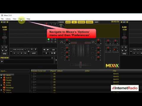 Configuring the Mixxx DJ software for SHOUTcast and Icecast servers (Internet Radio)