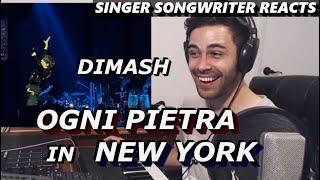Dimash - Ogni Pietra in NEW YORK   Singer Songwriter Reaction   Barclays Center USA FANCAM