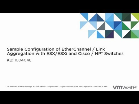 Sample configuration of EtherChannel / Link Aggregation