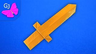 Оригами Меч из бумаги ✰ Поделка для мальчиков