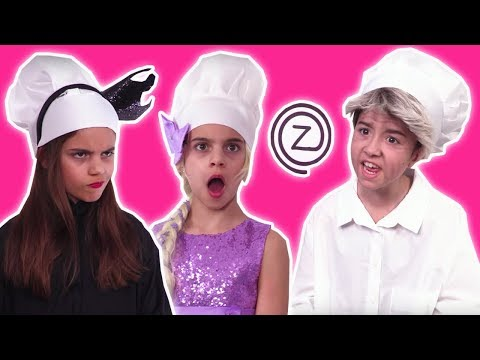 CHOCOLATE FOOD vs REAL FOOD 🍫 Princess Cooking Competition! - Princesses In Real Life | Kiddyzuzaa