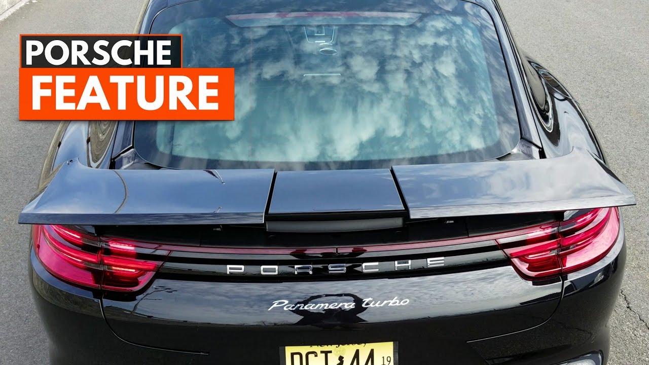 2017 panamera turbo 4 way adaptive rear spoiler youtube