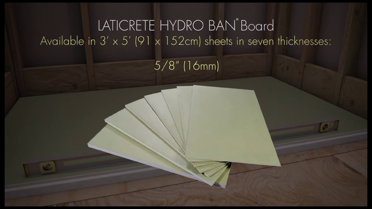 Hydro Ban Pre Sloped Shower Pan Board And Grate Installation Video Laticrete International