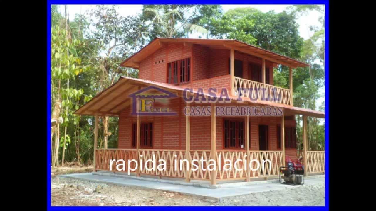 Casas prefabricadas casa full dos niveles youtube for Modelos de casas de madera de un piso
