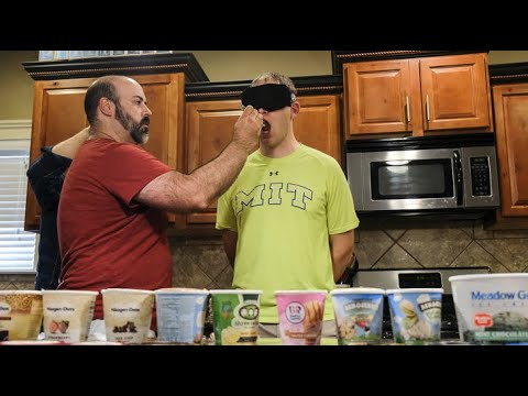 Jeff Stevens - Blindfolded Man Identifies 11 Ice Cream Flavors in 60 Seconds