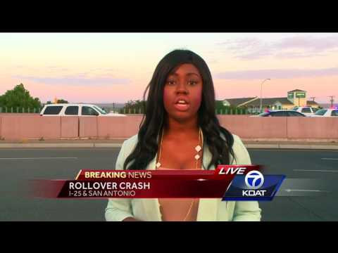 BREAKING NEWS: ROLL OVER CRASH ON I25 AND SAN ANTONIO