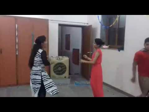 Diljeet happy birthday title song dance by two sisters...
