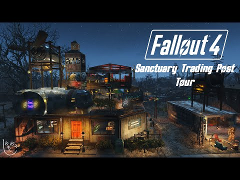 FALLOUT 4 Settlement Building - Sanctuary Trading Post Guided Tour