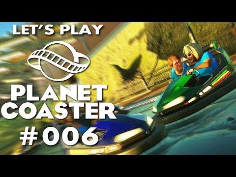 Planet Coaster Deutsch #6 Heißer Autoscooter Planet Coaster German Deutsch Gameplay