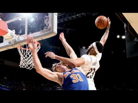 Anthony Davis KNOCKS OUT Ron Baker With INSANE POSTER DUNK!!!