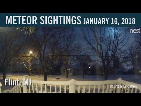 Meteor sightings in Michigan