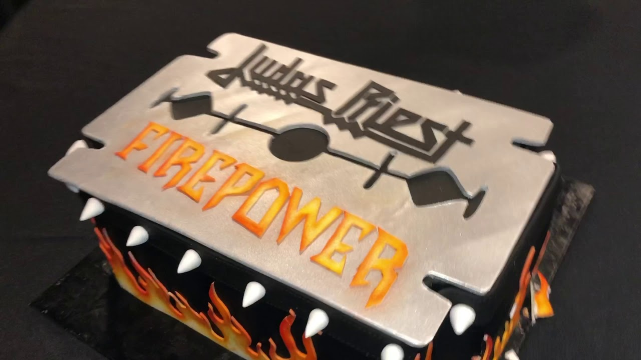 Custom Cake Presented To JUDAS PRIEST Celebrate FIREPOWER In Dallas Texas