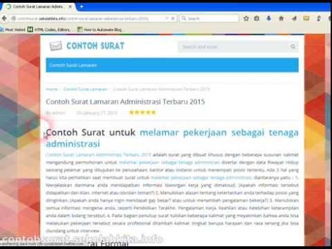 Contoh Surat Lamaran Administrasi Terbaru 2015