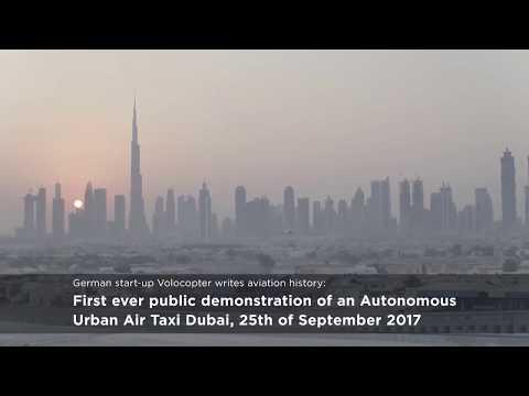 Autonomous Urban Air Taxi – Pioneer Volocopter Flies Air Taxi Over Dubai
