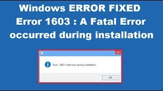How to fix .Net fatal error during installation