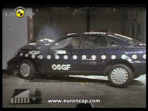 euro ncap audi a4 1997 crash test youtube. Black Bedroom Furniture Sets. Home Design Ideas