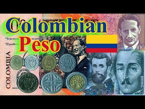 Colombian Peso Banknotes And Coins