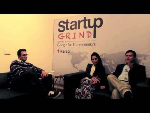 Rizwan Ahmed & Khizra Munir (Sattarbuksh) at Startup Grind Karachi