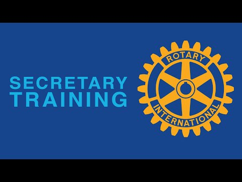 Rotary Club - Secretary Training Session