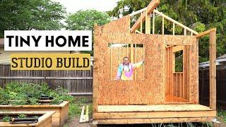 Tiny Home Studio Build | Building a tiny home | Exterior Sheathing | Elysia English