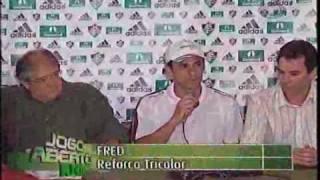 Jogo Aberto Rio - 06/03/2009 - 1/2 - Fred é apresentado ao Fluminense