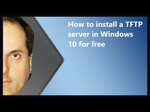 How to install a TFTP server in Windows 10 for free