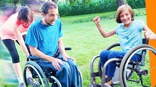 WHEELCHAIR RACES - Modified Family Fun Games - Wheelchair Adventure Challenge
