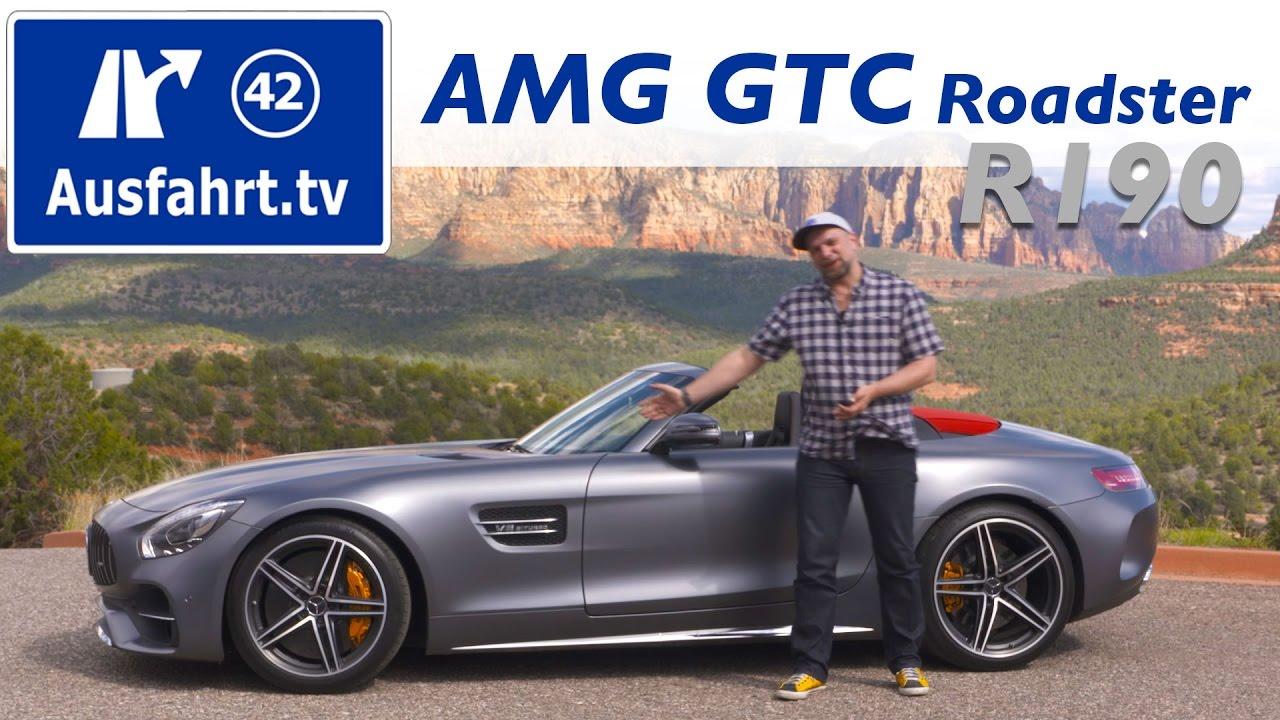 2017 Mercedes Amg Gtc Roadster Cabrio R190 Testbericht Der Probefahrt Test Review Youtube