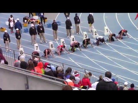 Drake Relays  Boys 100m Final  Brady Wall