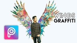 Cara Edit Wings Graffiti di Picsart Android dan iOS | Tutorial