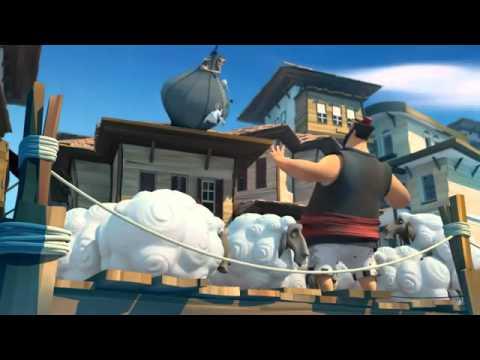 كوميديا كرتون- كيف طار عباس بن فرناس في السماء - animation 3D