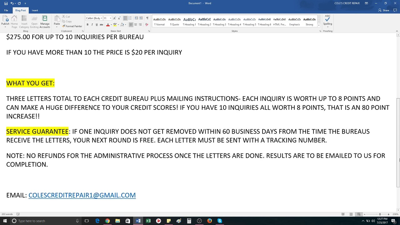FASTEST GUARANTEED SCORE INCREASES INQUIRY REMOVAL SERVICES CREDIT