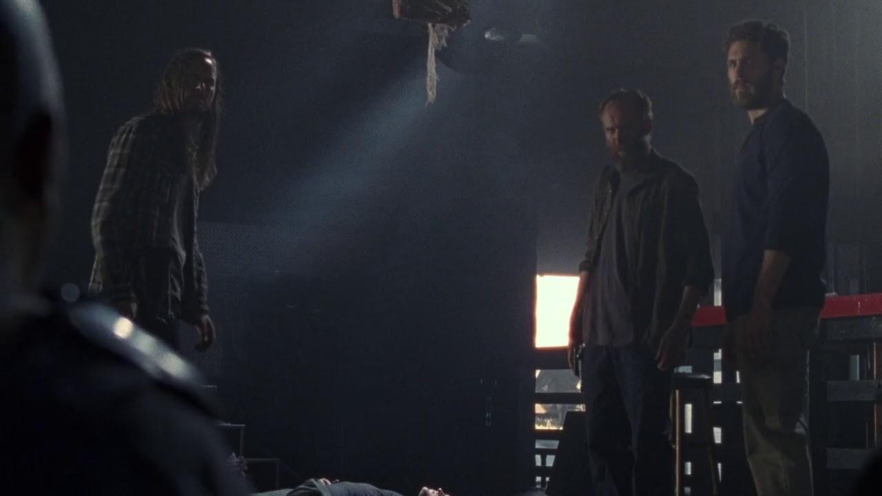 The Walking Dead Scene Rick Morgan Kills The Saviors 8x14 Youtube