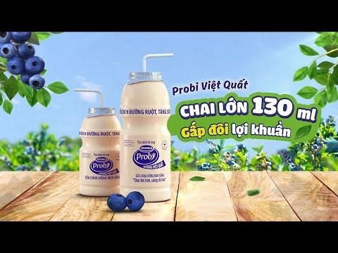 Quảng cáo Vinamilk – Sữa chua uống Vinamilk Probi – Việt Quất chai lớn 130 ml mới