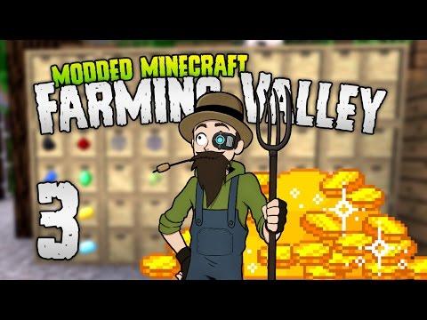 Minecraft: FARMING VALLEY   3   RICH GLITCH? 💰💰💰  [Minecraft Modpack 1.10.2]