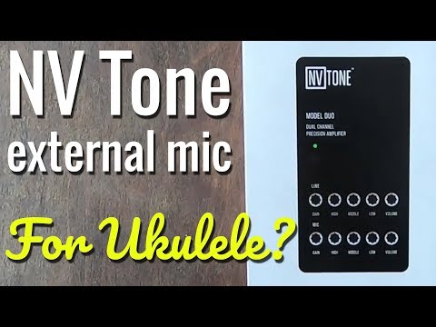 Testing The NV Tone External Microphone - On Ukulele And Guitar.