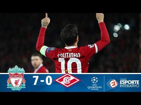 Melhores Momentos - Liverpool 7 x 0 Spartak - Champions League (06/12/2017)