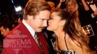 MTV EMA 2013 - Ariana Grande GETS NAUGHTY With Ron Burgundy