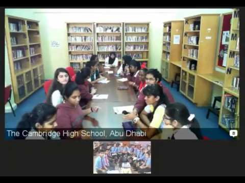 VC between Cambridge High SchoolL,UAEand Central School for Tibetans ,Herbertpur
