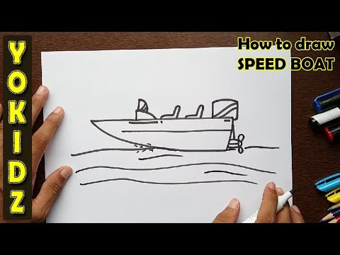 How to draw SPEED BOAT