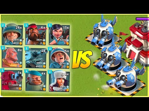 3 MAX Boom Surprises VS EVERY SINGLE Troop! Boom Beach Testing!