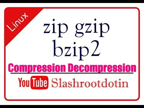 zip gzip bzip2 command line tool in linux for compression decompression