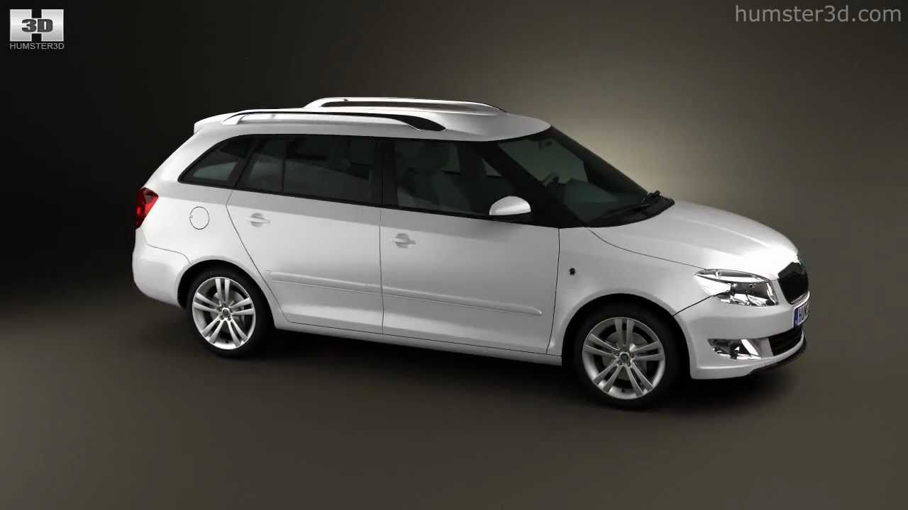 skoda fabia combi 2011 by 3d model store youtube. Black Bedroom Furniture Sets. Home Design Ideas