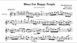 Blues For Happy People (demo alto sax transcription in Es)