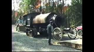 Lombard Steam Log Hauler Arriving at Maine Forest and Logging Museum