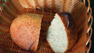 Деревенский хлеб в духовке // Белый круглый хлебушек // Baking with Dianatadi