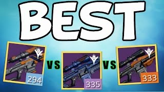 destiny longbow vs ldr vs 1kys whats the best sniper rifle