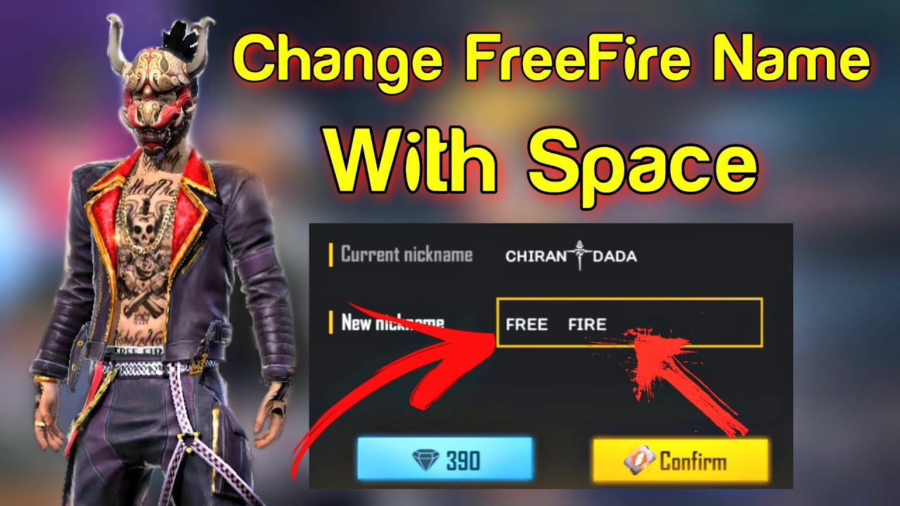 How To Change FreeFire Name With Space New Trick working Now ll - YouTube